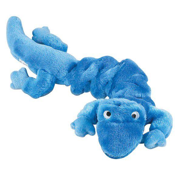Brinquedos Para Cachorro Mordedor Pelúcia Lagartixa Azul Grande