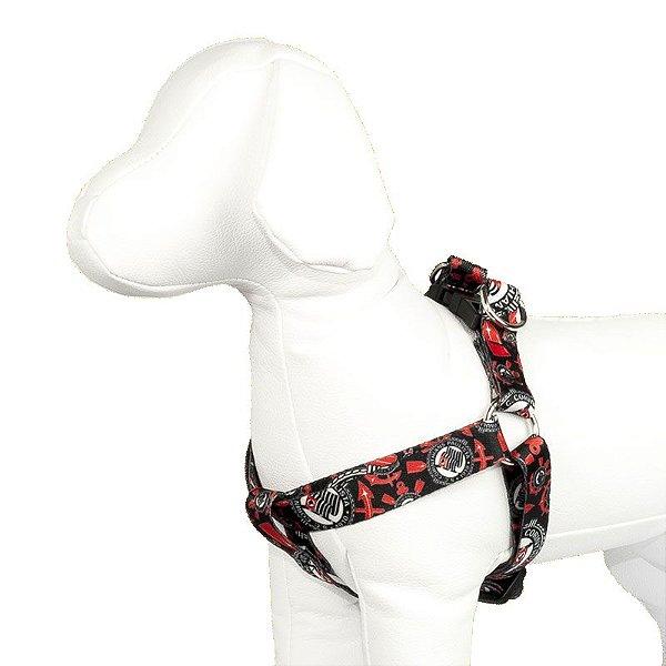 Peitoral e Guia Para Cachorro Number One Escudos Corinthians