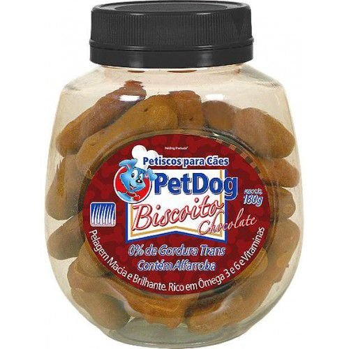 Petisco Para Cachorro Pet Dog Chocolate 180g