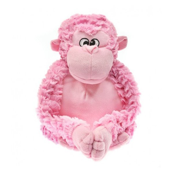 Brinquedos Para Cachorro Pelúcia PatchWork Pet Gorila Rosa