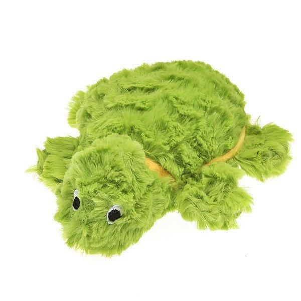Brinquedos Para Cachorro Pelúcia PatchWork Pet Tartaruga Pequena Verde