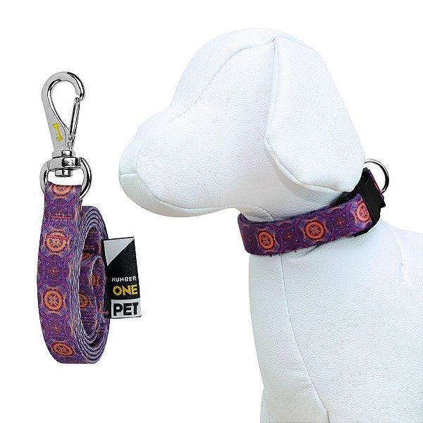 Coleira e Guia Para Cachorro Number One Mandala