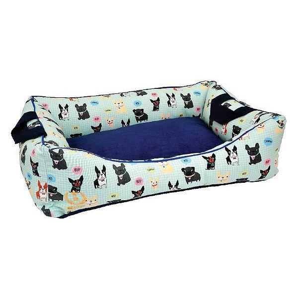 Cama Para Cachorro São Pet Garden Impermeável Azul