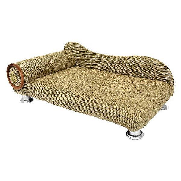 Cama Para Cachorro São Pet Divã Chenile Luxo Marrom