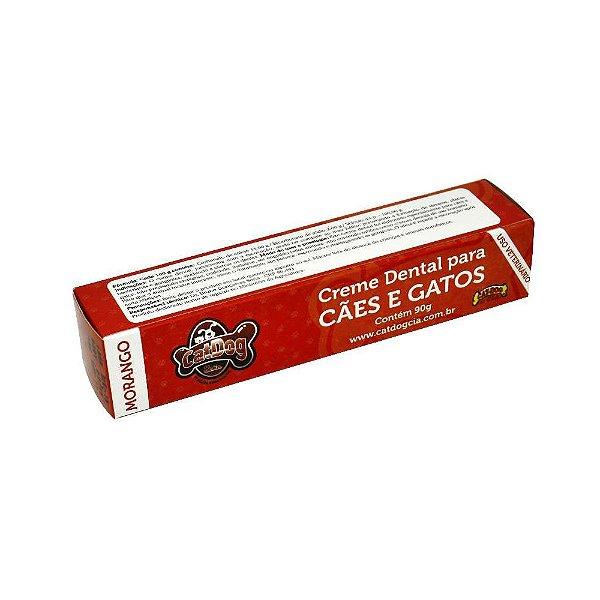 Pasta de Dente para Cachorro CatDog Morango