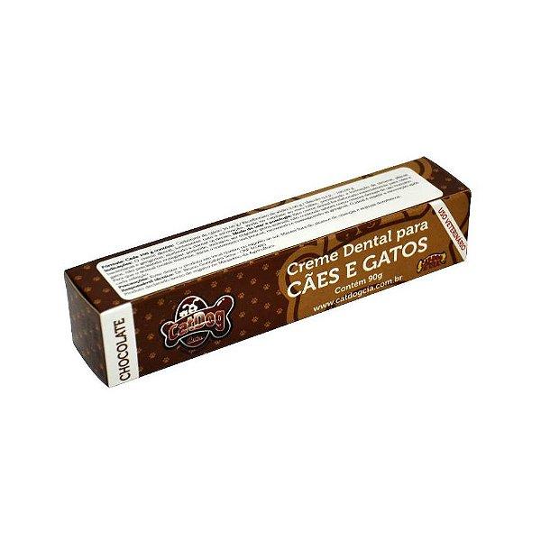 Pasta de Dente para Cachorro CatDog Chocolate
