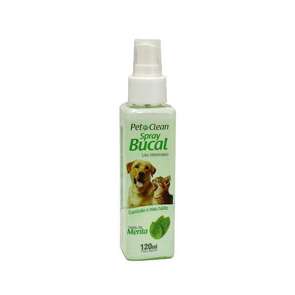 Spray Bucal Para Cachorro Pet Clean Para Mau Hálito Menta