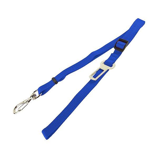Guia Para Cachorro Cinto de Segurança 2 em 1 Azul São Pet