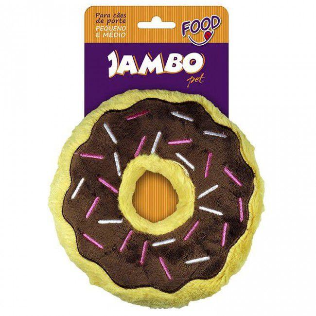 Brinquedo Para Cachorro Mordedor Pelúcia Food Donut Chocolate Grande