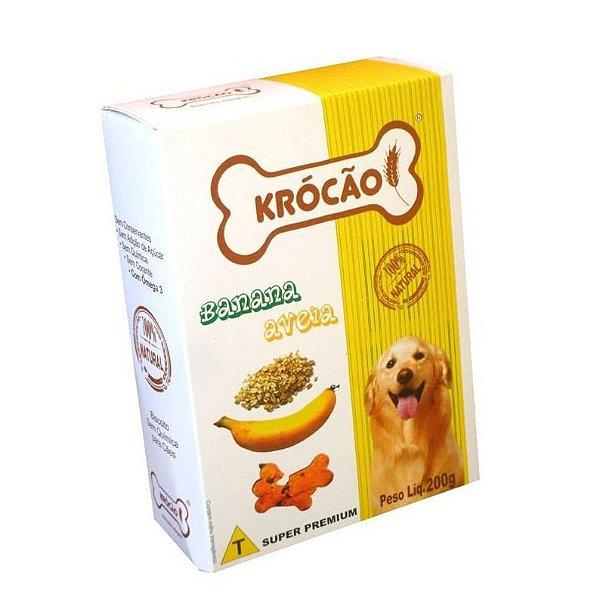 Petisco Para Cachorro Ossinho Banana e Aveia Krocão 200g