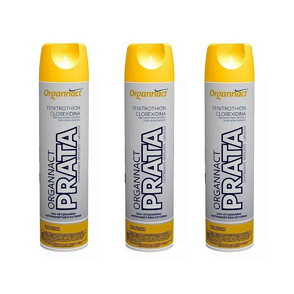 Organnact Prata Spray Antibacteriano 500ml Kit 3