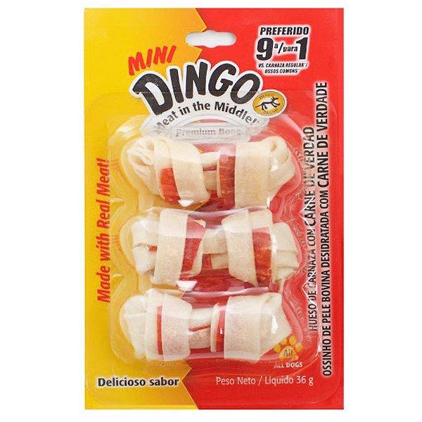 Petisco Para Cachorro Dingo Premium Bone Mini 3 Unidades 36g