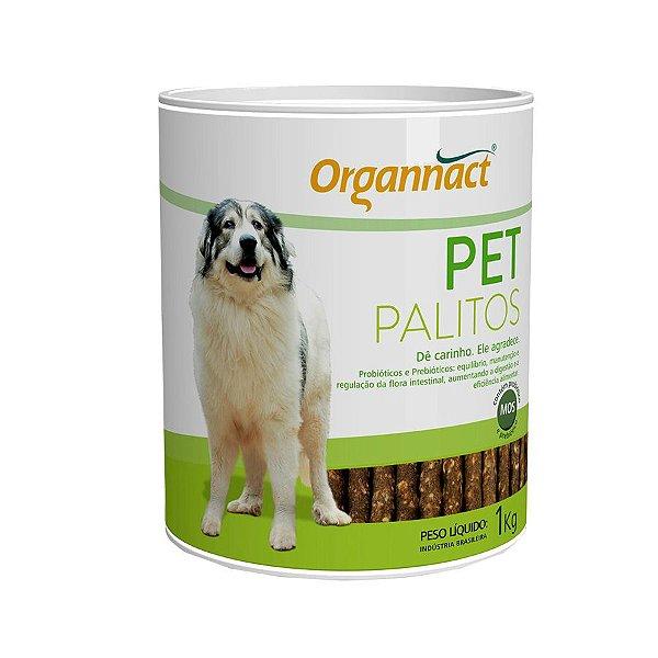 Ossinho Para Cachorro Organnact Pet Palitos 1kg