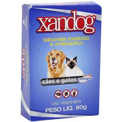 Sabonete Inseticida e Antisséptico Para Cães e Gatos Xandog
