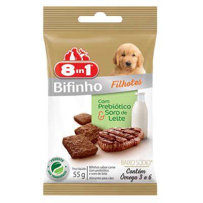 Petisco Para Cachorro 8in1 Bifinho Filhotes Carne