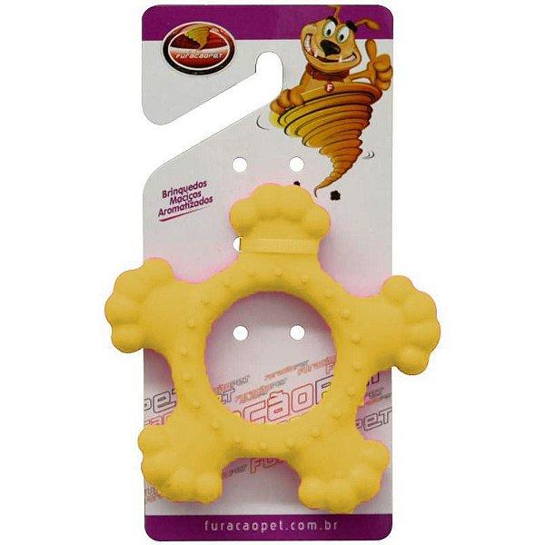 Brinquedos Para Cachorro Disco Maciço Furacão Pet Amarelo