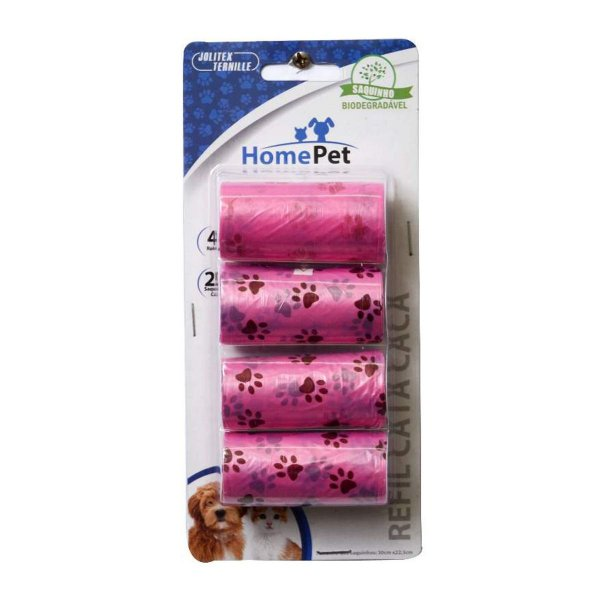 Kit Saquinhos Coletores Home Pet Rosa