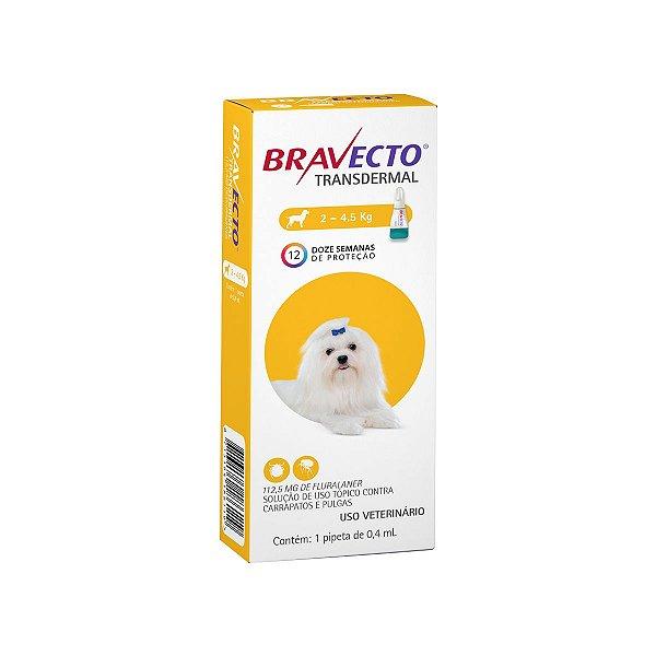 Antipulgas Bravecto Até 4,5kg Transdermal Cães