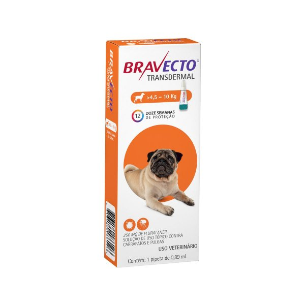 Antipulgas Bravecto 4,5 a 10kg Transdermal Cães