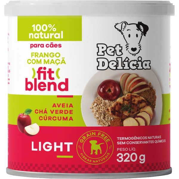 Alimento Natural Pet Delícia Frango com Maçã Fit 320g