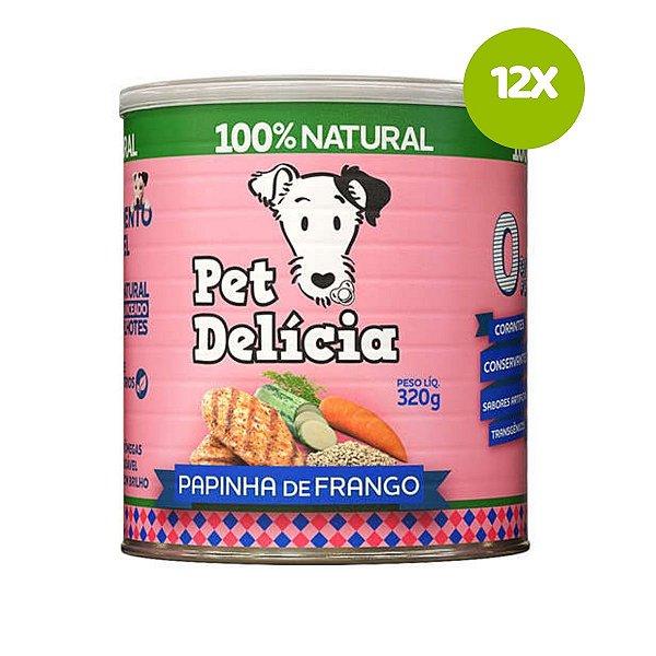 Ração Pet Delícia Papinha de Frango para Cães Filhotes 320g 12 unds