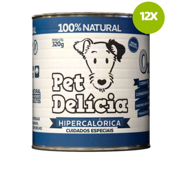 Ração Pet Delícia Dieta Hipercalórica 320g 12 unds
