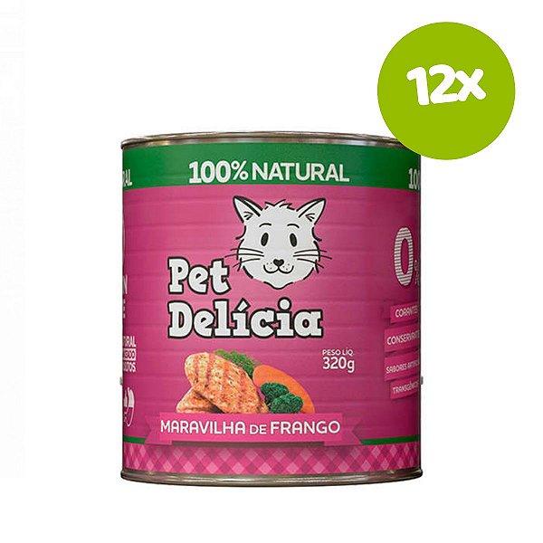 Ração Pet Delícia Maravilha de Frango 320g 12 unds