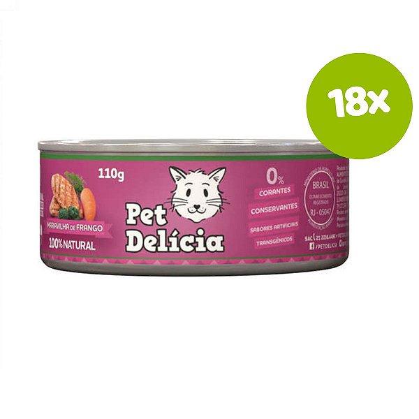 Ração Pet Delícia Maravilha de Frango 110g 18 unds