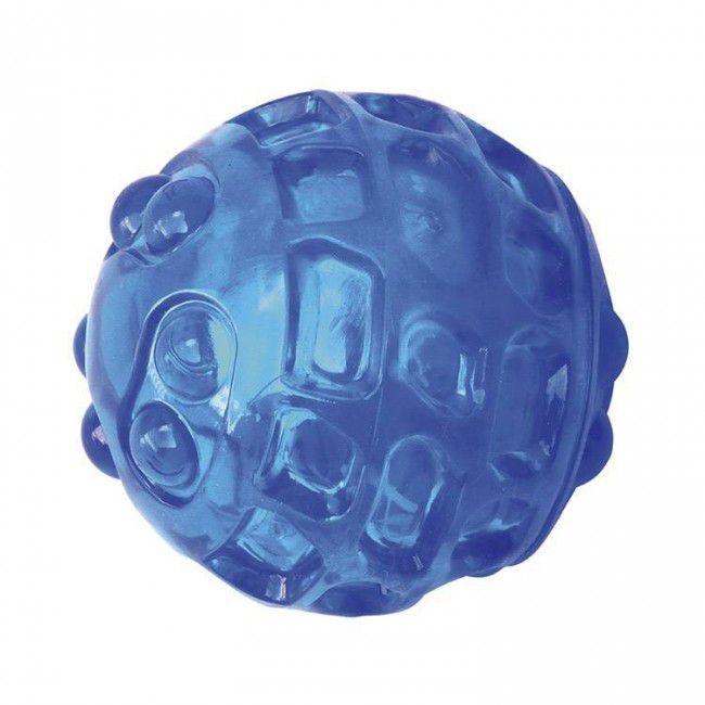 Brinquedos Para Cachorro Bola Grande Som Azul Com Furos
