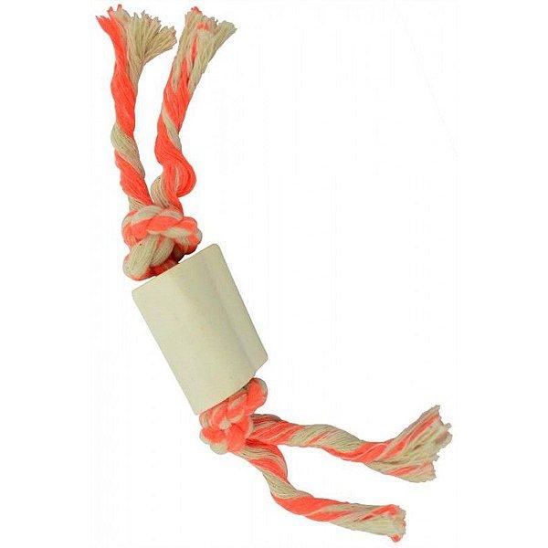 Brinquedo para Cachorro Cordosso Pequeno Amarelo e Laranja