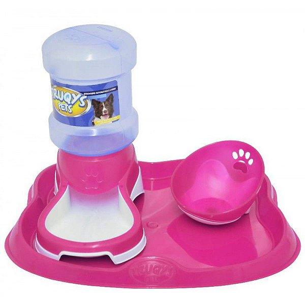 Bebedouro Automático Truqys Pet Rosa 2L
