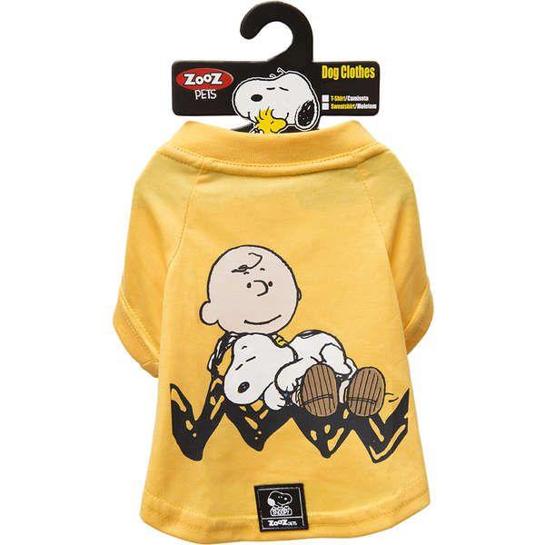 Roupa Cachorro Camiseta Amarela Charlie Snoopy Sleeping