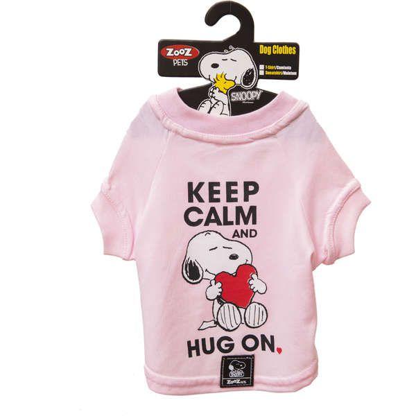 Roupa Cachorro Camiseta Snoopy Keep Calm Hug On