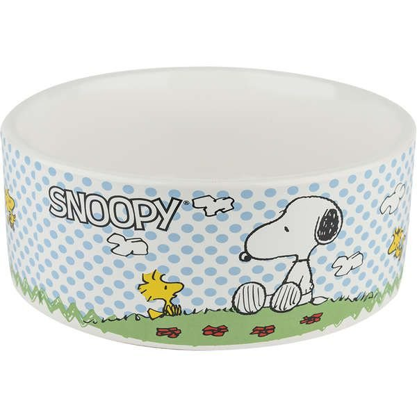 Comedouro Cerâmica Zooz Pets Snoopy Charlie Brown