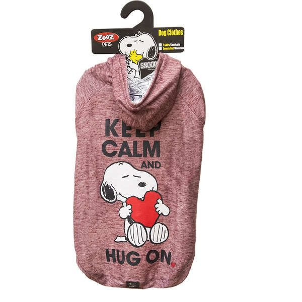 Roupa Cachorro Moletom Snoopy Keep Calm Hug On