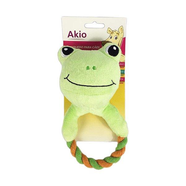Brinquedo Cachorro Pelúcia Sapo Com Corda Akio