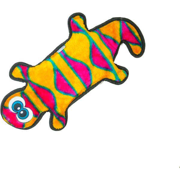Brinquedo Cachorro Resistente Invincibles Lagartixa Laranja