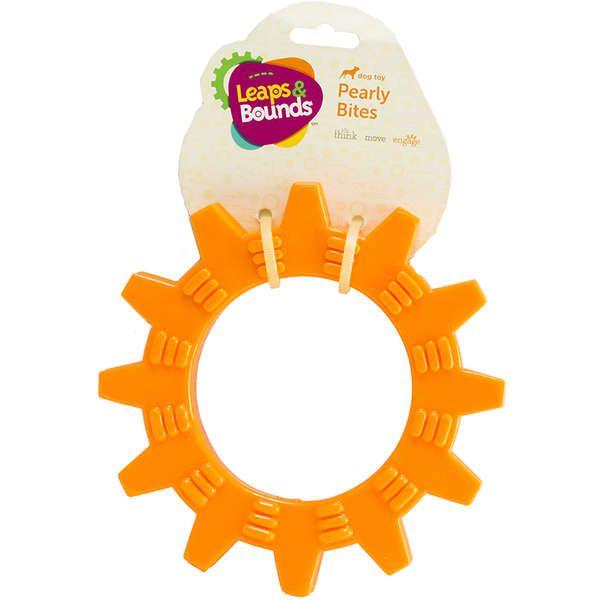 Brinquedo Cachorro Mordedor Roda Com Texturas Laranja