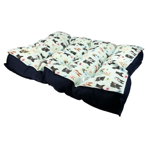 Almofada Cachorro Futon M Azul 43 x 67 x 14cm