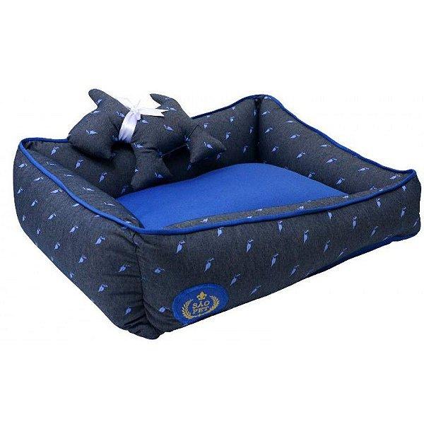 Cama Cachorro Arizona Dupla Face G Azul 82 x 68 x 17cm