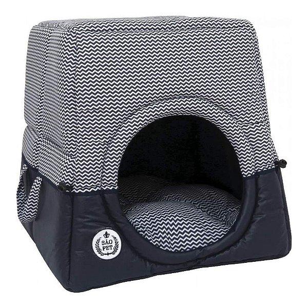 Cama Cachorro Tunel Florence Gg Azul 56 x 56 x 60cm