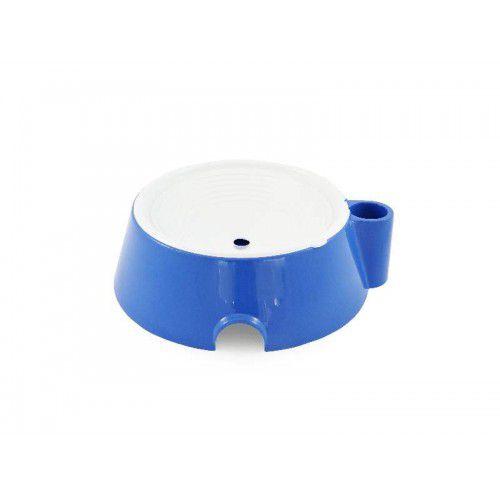 Bebedouro Cachorro Pelo Longo Suporte Garrafa Azul