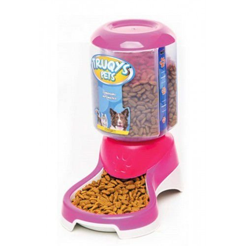 Comedouro ou Bebedouro Automático Truqys Pet Rosa 1L