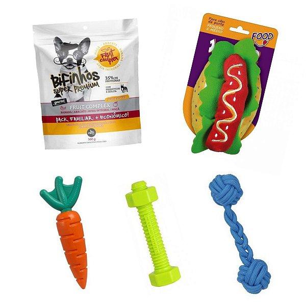 Brinquedo Cachorro Buddy Toys + Corda + Pelúcia + The French Co