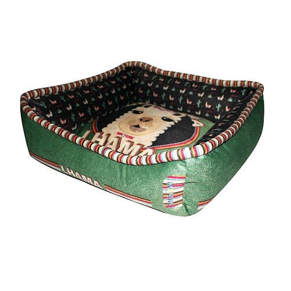 Cama Para Cachorro Lhama M Verde 14 x 30 x 30 cm