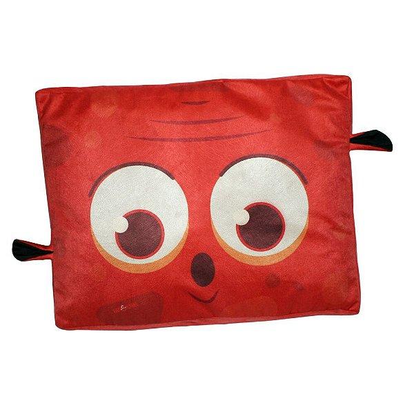 Almofada Para Cachorro Monstro Vermelho 12 x 46 x 60 cm