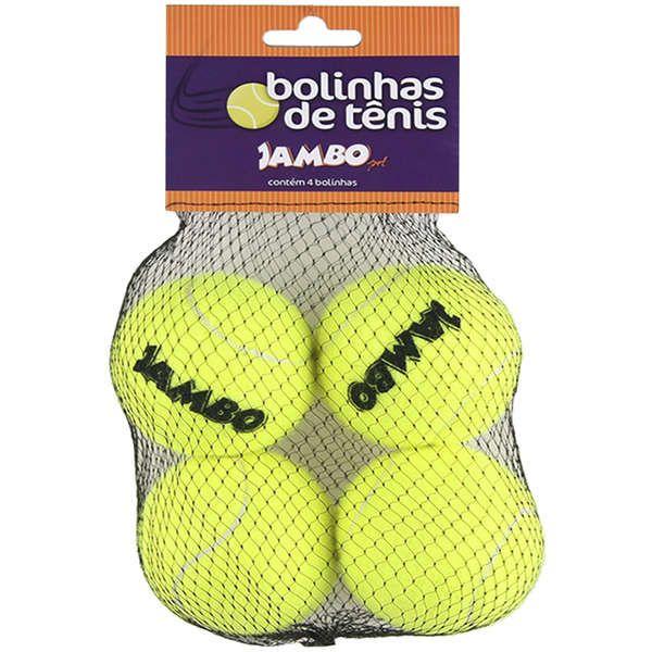 Brinquedo Para Cachorro Bola de Tênis Amarela Jambo