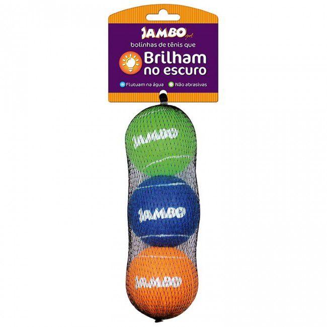 Brinquedo Para Cachorro Bola de Tênis Fluorescente Jambo