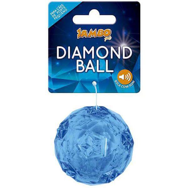 Brinquedo Para Cachorro Bola Diamond Pequena Azul Jambo