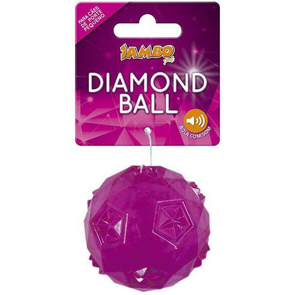 Brinquedo Para Cachorro Bola Diamond Pequena Rosa Jambo